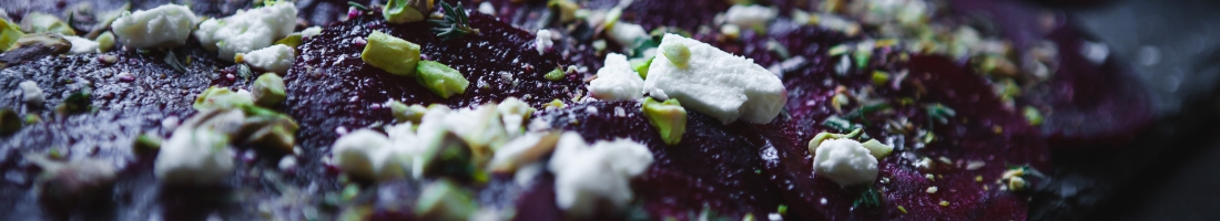 (RED) Beet Carpaccio